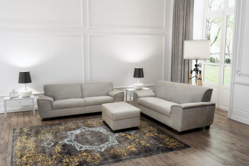 2 sitzer sofa bianca grau. Black Bedroom Furniture Sets. Home Design Ideas