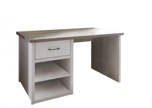 Schreibtisch LUCA / Pinie Weiß/Trüffel Nachbildung