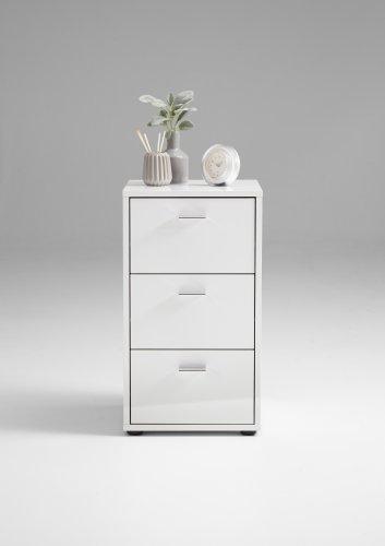 nachtkonsole virginia 1 up weiss hochglanz. Black Bedroom Furniture Sets. Home Design Ideas
