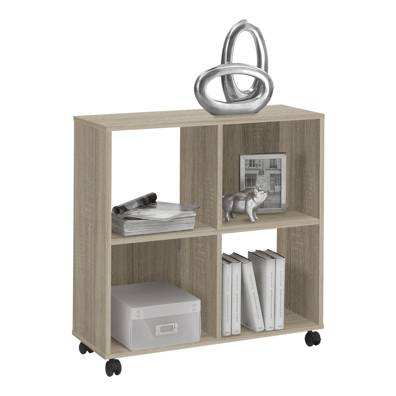 sonderposten m belland regal auf rollen sprint eiche. Black Bedroom Furniture Sets. Home Design Ideas
