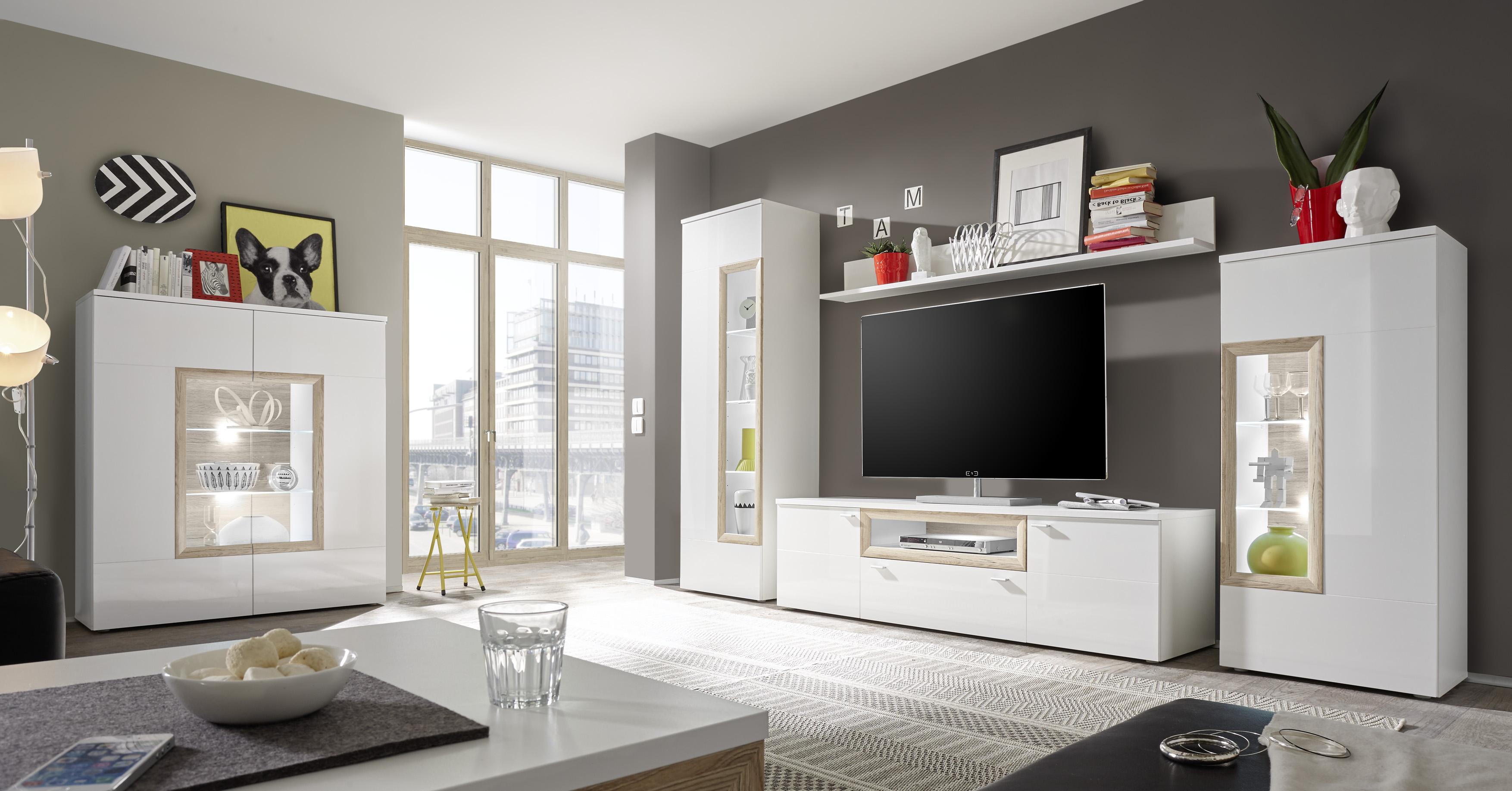 glasvitrine prag gro wei wei dso hochglanz rahmenoptik. Black Bedroom Furniture Sets. Home Design Ideas