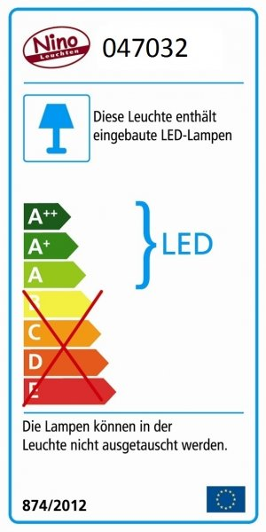 LED-Tischleuchte - weiss - COLORI